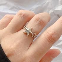 Retro Style Silver-tone Pentagram Ring
