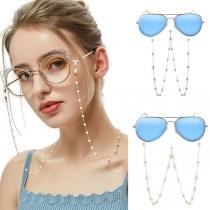 Fashion Imitation Pearl Inlaid Anti-slip Glasses Chain