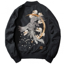 Street Chic Aviator jacket  embroidered men's jacket