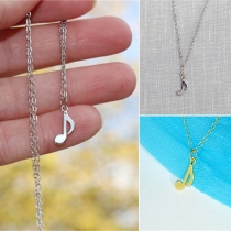 Chic Style Musical Note Pendant Necklace
