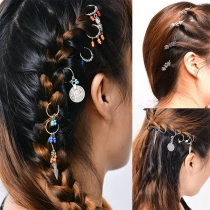 Bohemian Style Feather/Snowflake/Beaded Hair Accessories