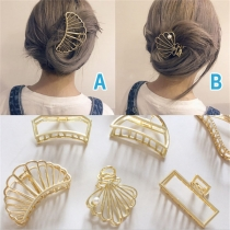 Retro Style Hollow Out Alloy Hair Accessory