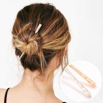 Simple Style Alloy Stick Shaped Hairpin