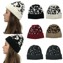 Fashion Leopard Printed Knit Beanies