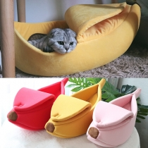 Cute Style Banana Shaped Pet's Bed