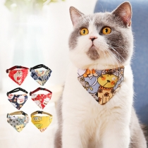Chic Style Printed Deltoidal Scarf Bibs for Pets