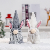 Cute Style No Face Doll Rabbit Shaped Easter Party Furnishing Articles