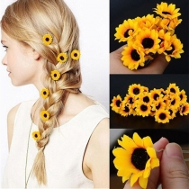 Sweet Style Sunflower Shaped Hair Accessories 5 pcs/Set