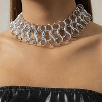 Hip-hop Style Hollow Out Choker Necklace