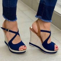 Fashion Wedge Heel Peep Toe Sandals