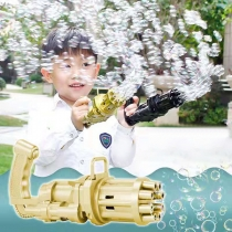 Electric Bubble Machine Gatling Bubble Gun Children Toy