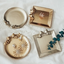 Retro Style Bow-knot Tray Photo Props Photography Furnishing Articles