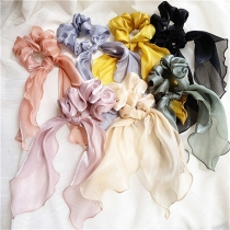 Sweet Style Solid Colro Bow-knot Ribbon Hair Ring 2 Piece/Set