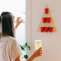 Creative Style Triangle Wooden Beer Pong