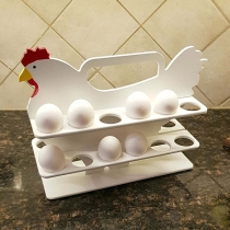 Creative Style Hen-shape Wooden Egg Storage Rack