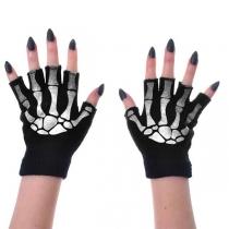 Chic Style Skull Hand Knit Half-finger Gloves