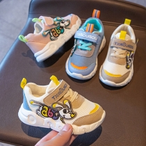 Fashion Contrast Color Cartoon pattern Anti-slip Breathable Mesh Children Sneakers