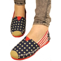 Leisure Retro Start Stripe American Flag Loafers