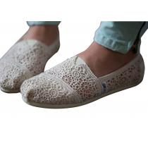 plimsolls Hollow hook lace flower canvas shoes