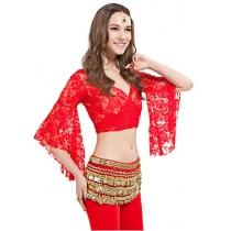 Women Dance Wear Lace Belly Dance Top More Colors