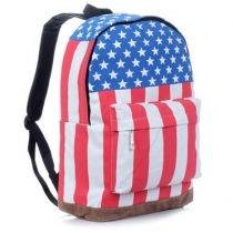 Vintage USA Flag Punk BackPack Shoulder Bag School Bag